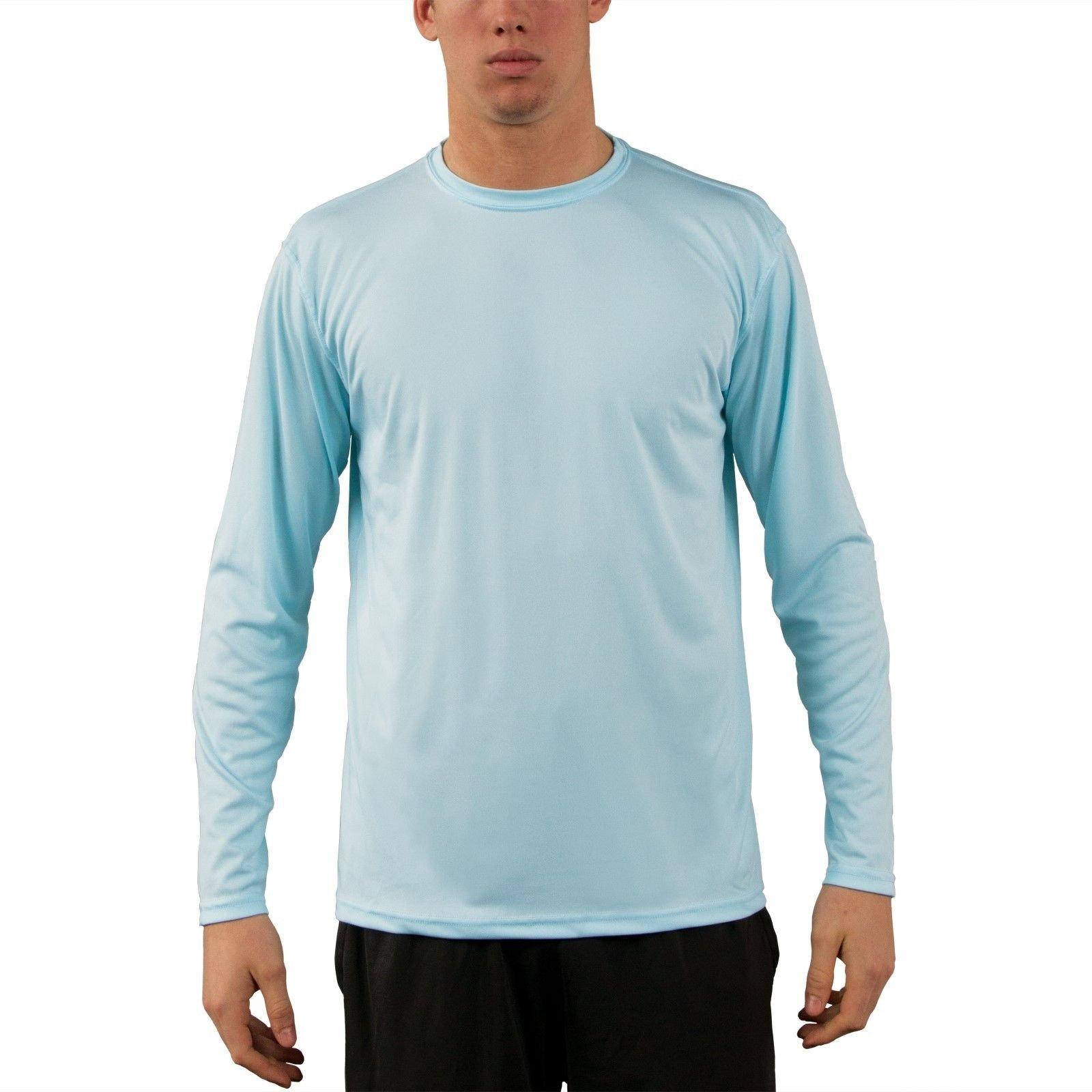 Vapor apparel men 39 s upf 50 uv sun protection long sleeve for Long sleeve sun shirt mens