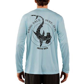 Costa Rica Skull Mens UPF 50 Long Sleeve T-Shirt SAND.SALT.SURF.SUN