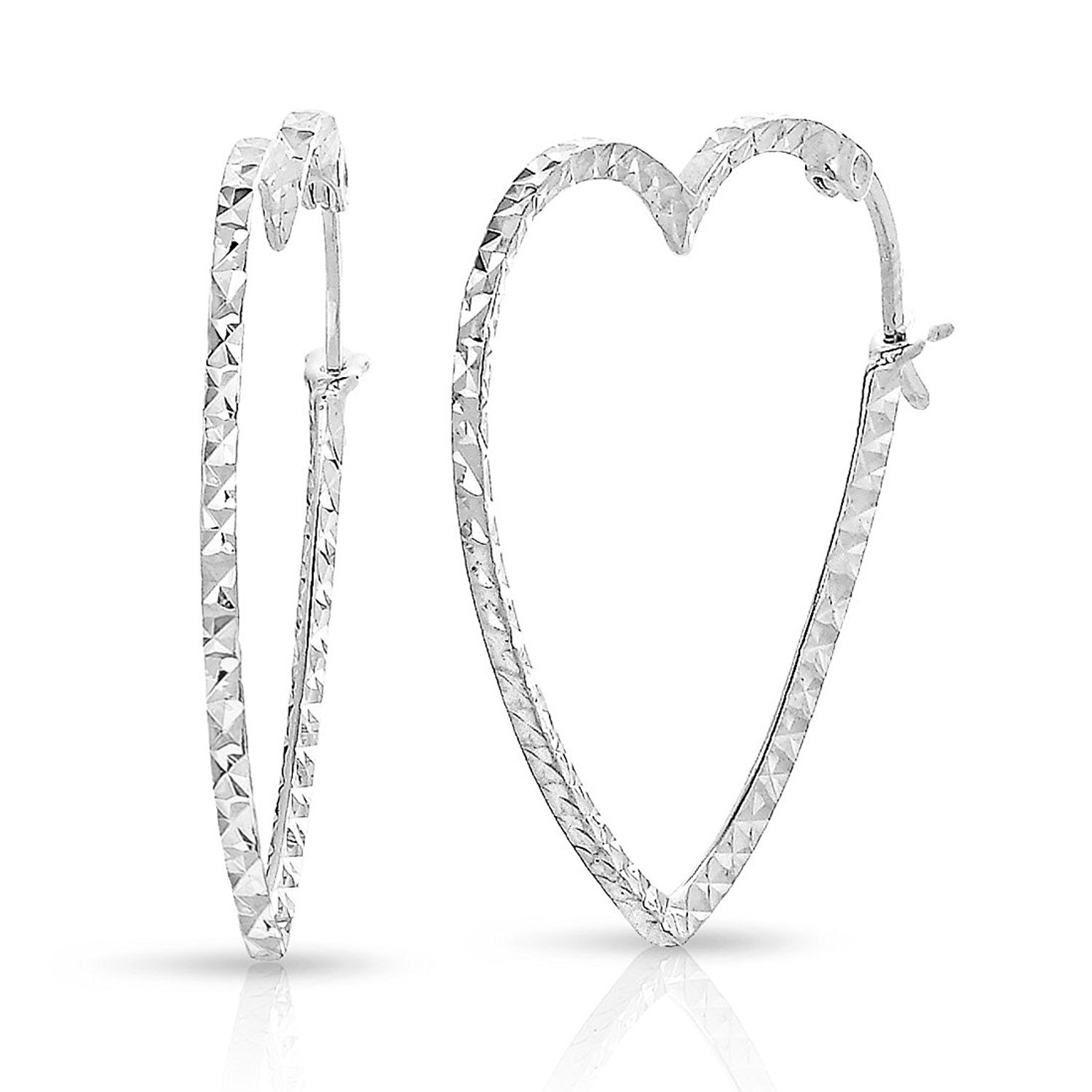 girls studs earrings wedding sirios silver for ears women shaped sensitive heart