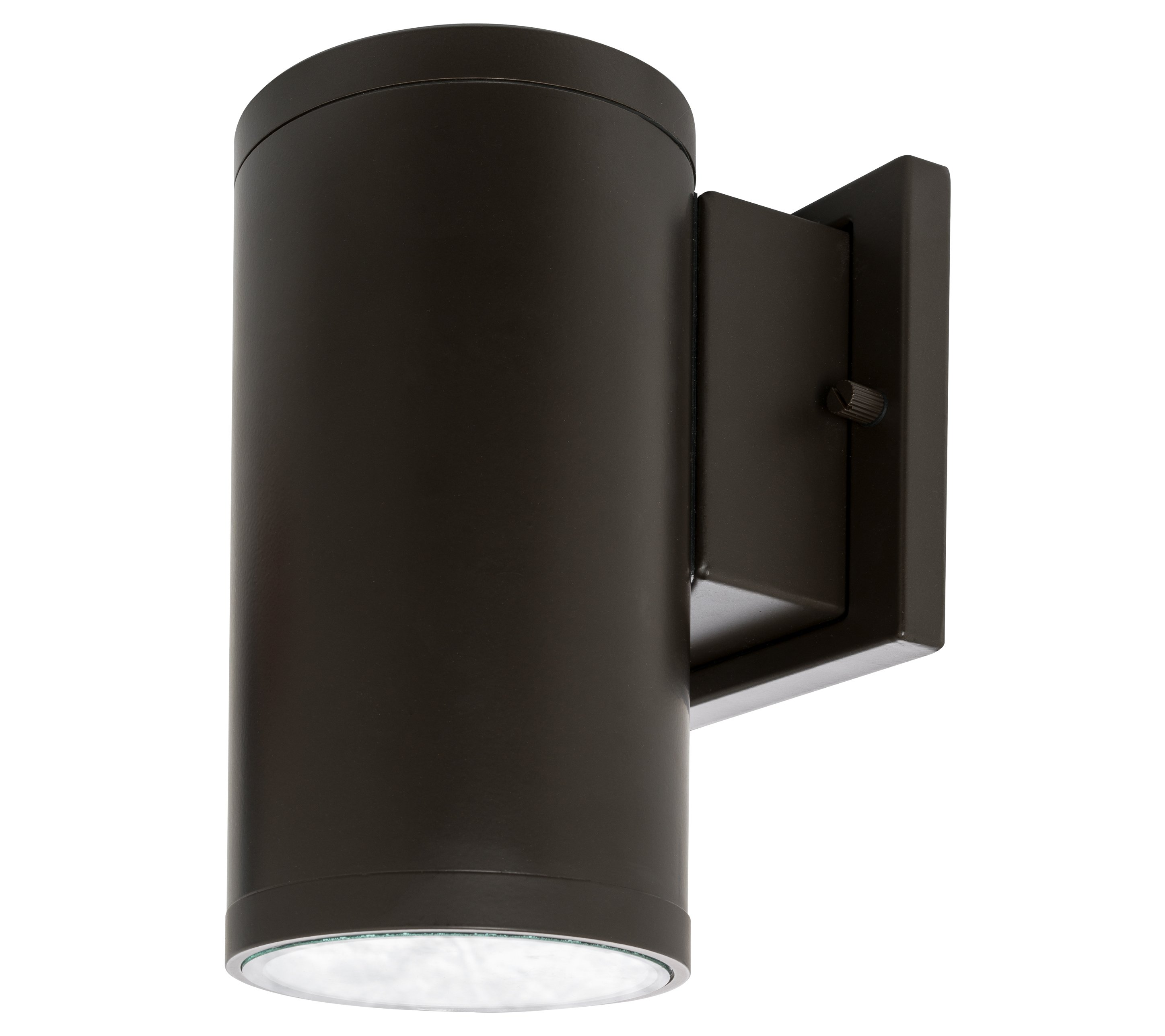Westgate led outdoor cylinder light up down wall sconce lamp fixture ebay for Exterior light sconce