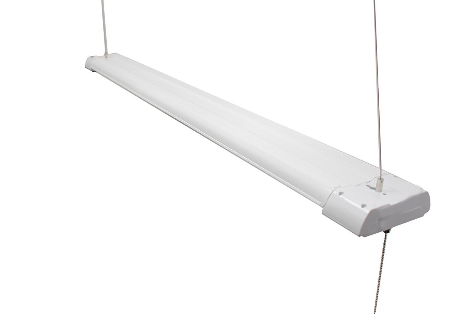 Details about westgate led strip light 4ft 40w high bay hanging garage warehouse lamp fixture