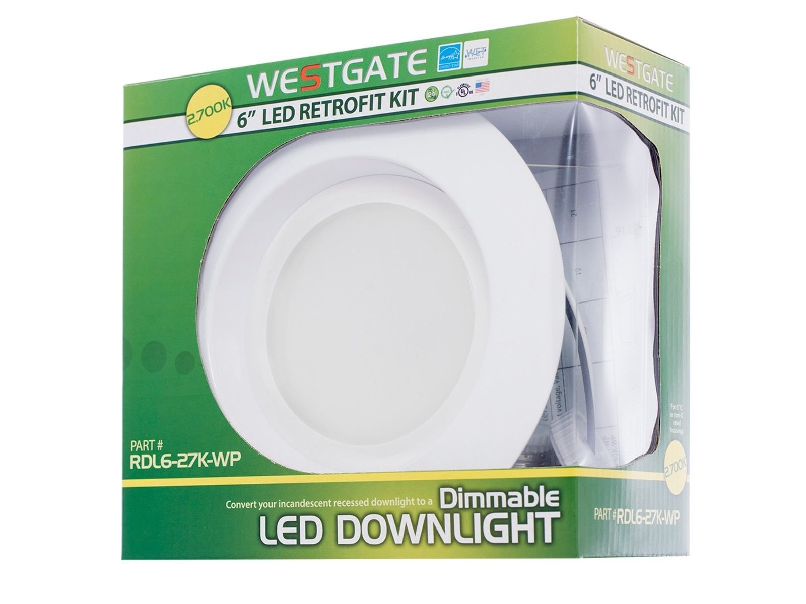 Westgate led recessed light 6 inch 19w round retrofit downlight westgate led recessed light 6 inch 19w round aloadofball Gallery