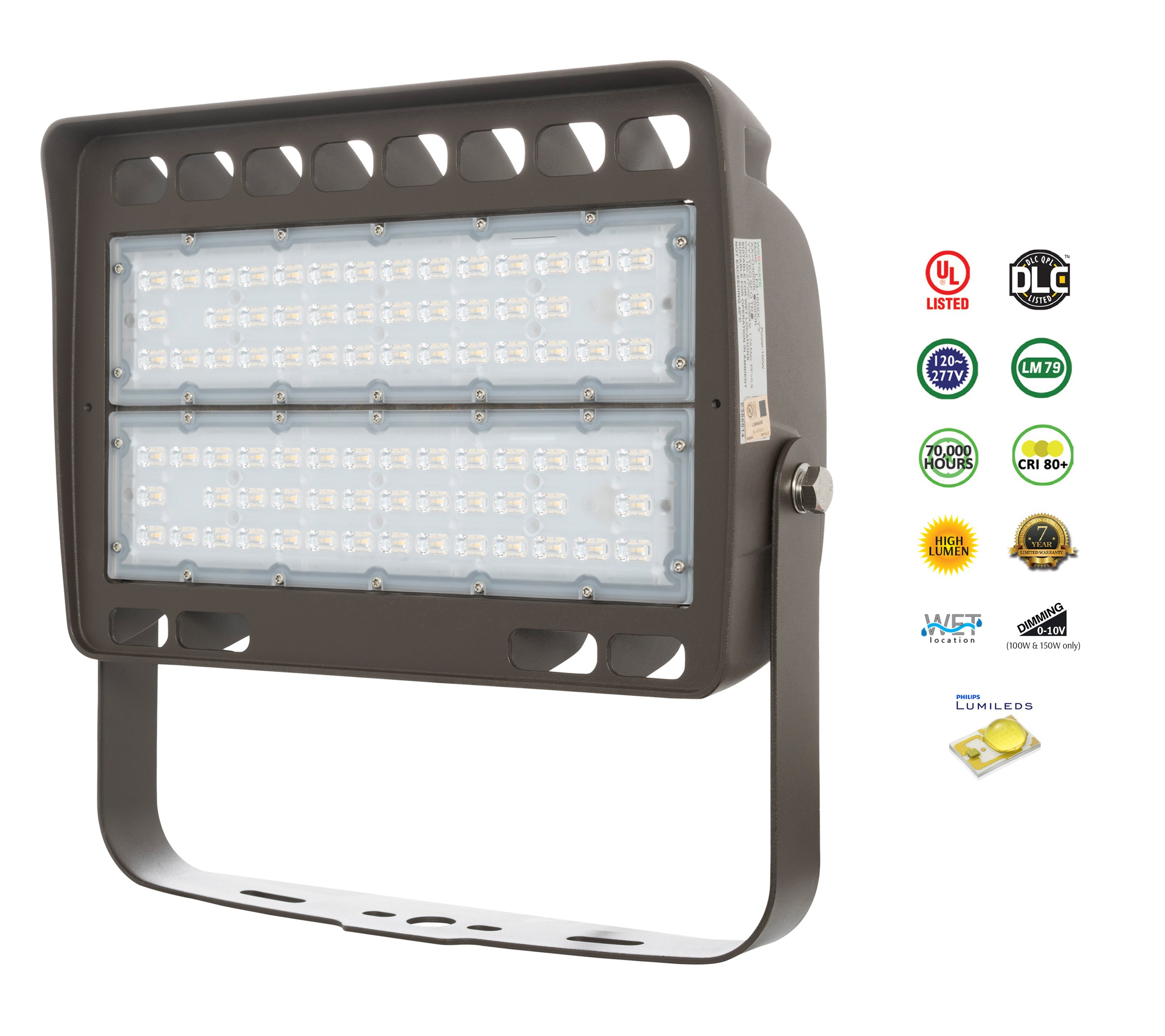 westgate led outdoor security flood light fixture with trunnion