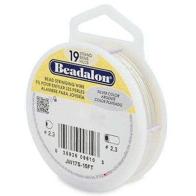 Beadalon-19-Strand-5-Sizes-12-COLORS-Stainless-Steel-Flex-Beading-Wire
