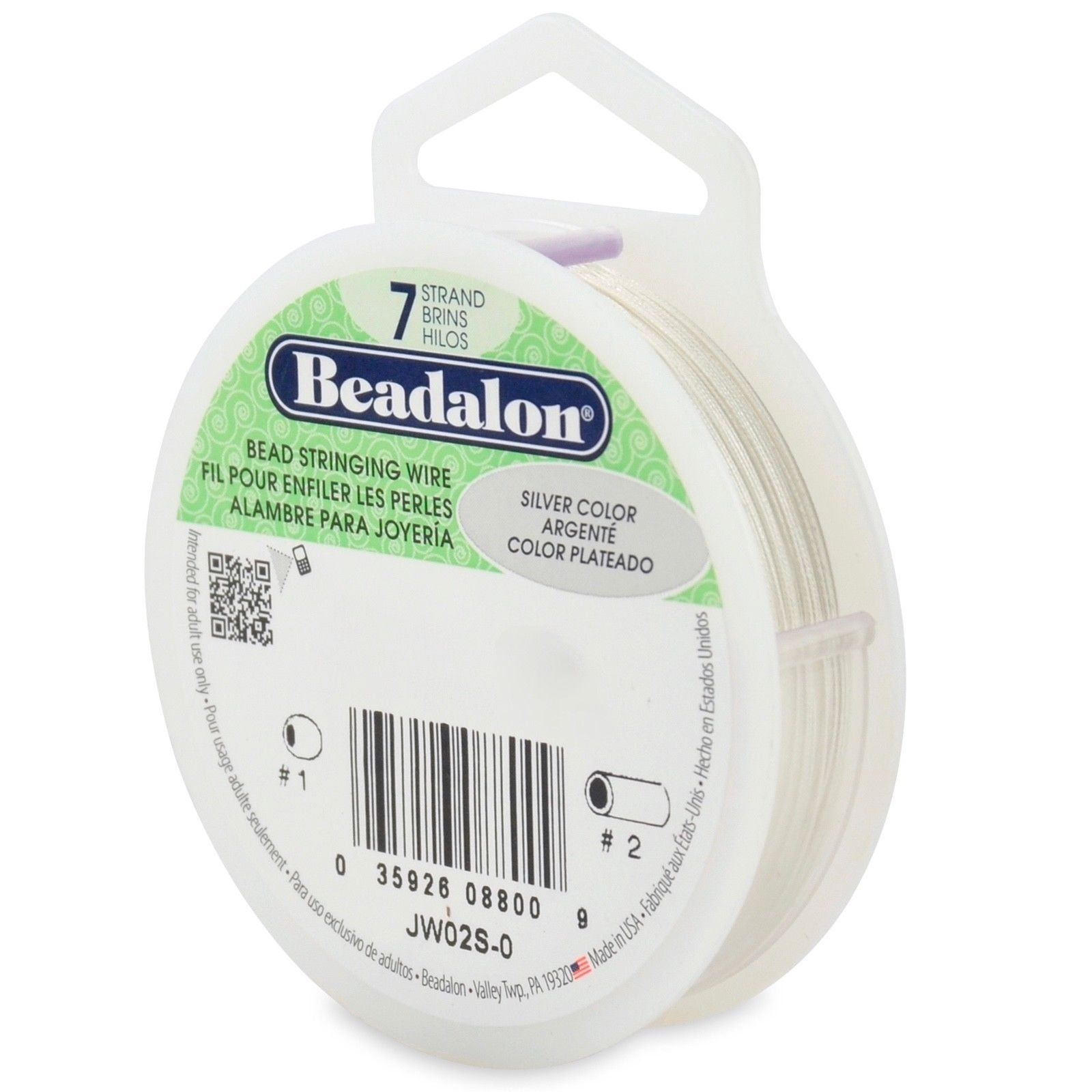 Beadalon Bead Stringing Wire 7 Strand Flex 8 Sizes 14 Colors Electrical Wiring Usa