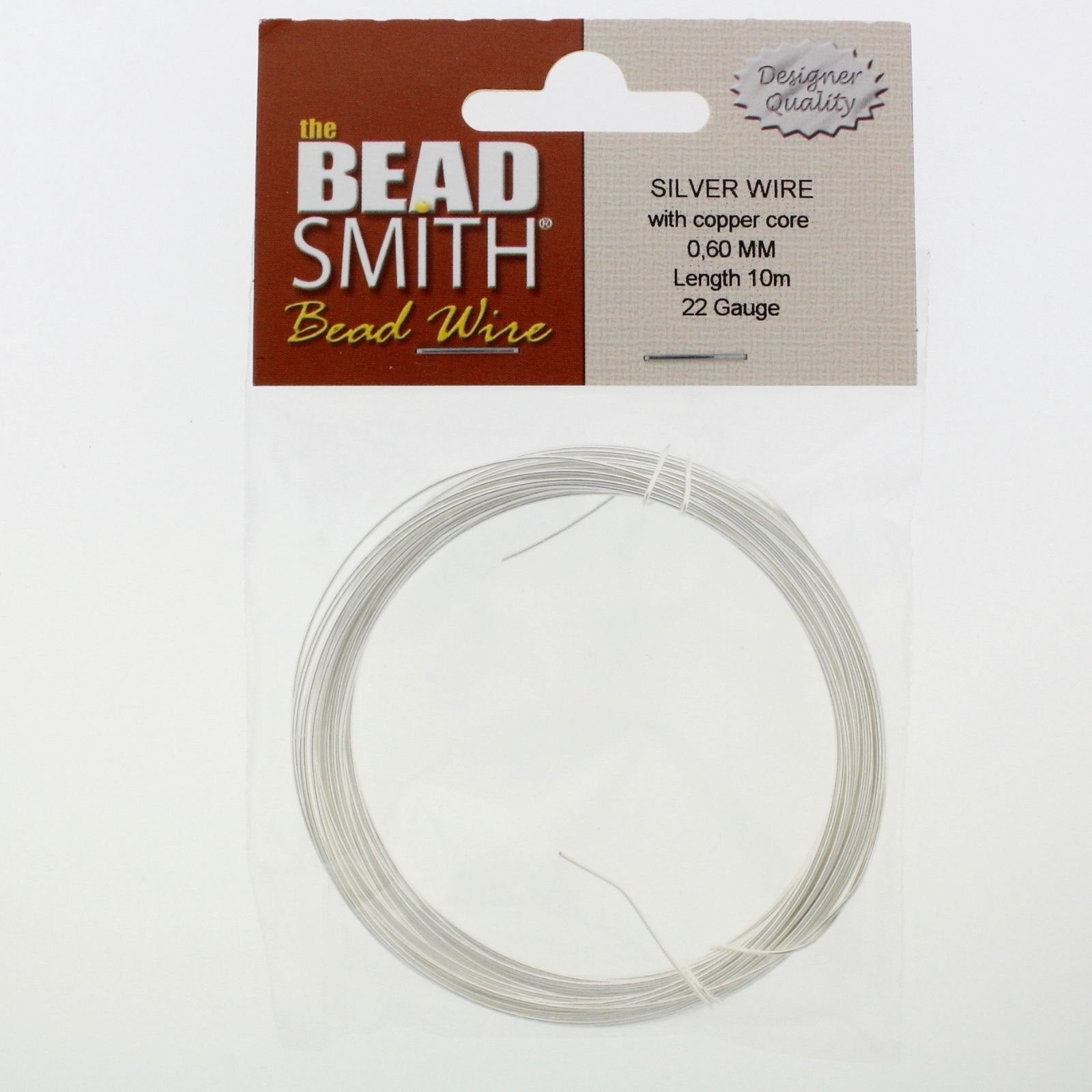 BeadSmith SILVER PLATED Round Copper Craft Wire (14 - 26 Gauge Wires ...