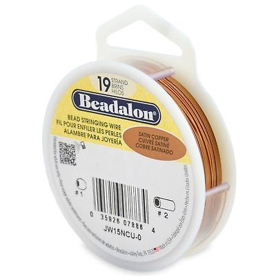 Beadalon-Bead-Stringing-Wire-19-Strand-Flex-Wire-6-Sizes-12-Colors