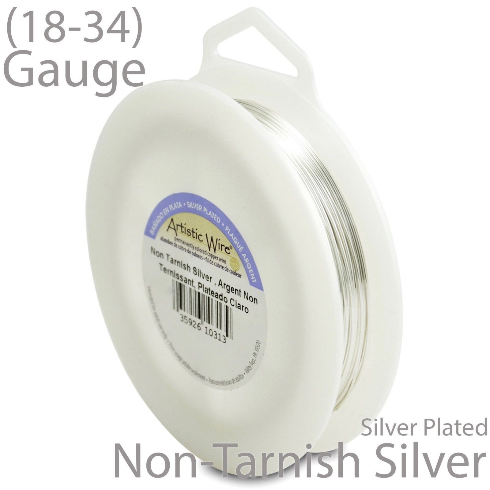 Silver-Tarnish-Resistant-Silver-Plated-Artistic-Craft-Wire-1-4lb-Spool