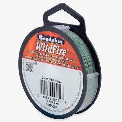 Beadalon-Wildfire-Frost-Black-Blue-Grey-Red-Green-Beading-Thread-50-amp-125YD