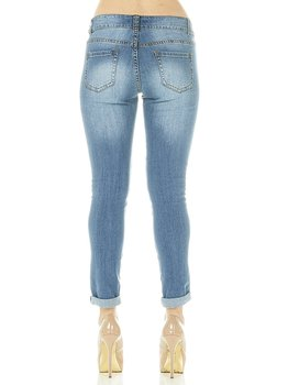 01f1a8575b7 Cover Girl Denim Ripped Jeans for Women Juniors Distressed Slim Fit Skinny  Jeans Size 1\2 Electric Blue