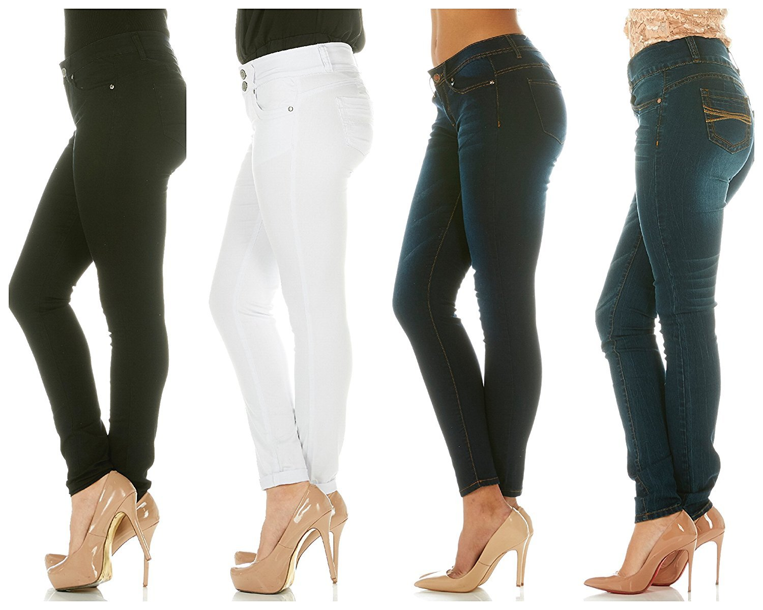 a0f3ff01be80 Cover Girl Jeans Women Juniors Mid Rise Slim Fit Stretchy Skinny ...