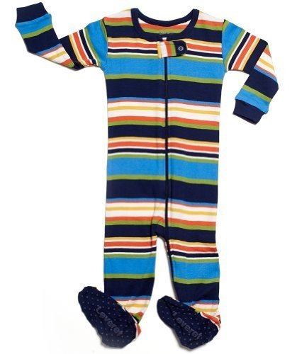 4a8e2b66dc93 Leveret Striped Footed Sleeper 100 Cotton 18-24 Months Colorful ...