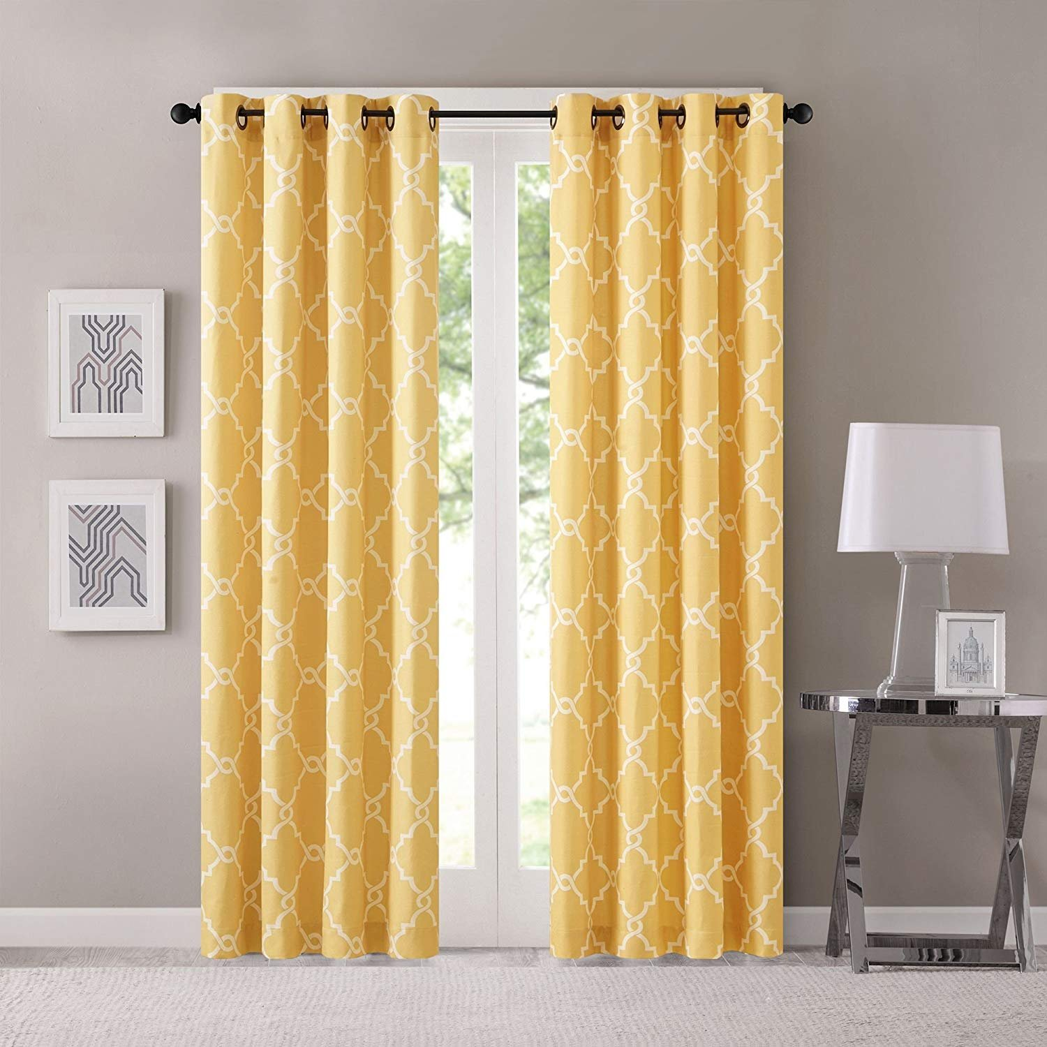 Yellow Curtains For Living Room Modern Contemporary Window