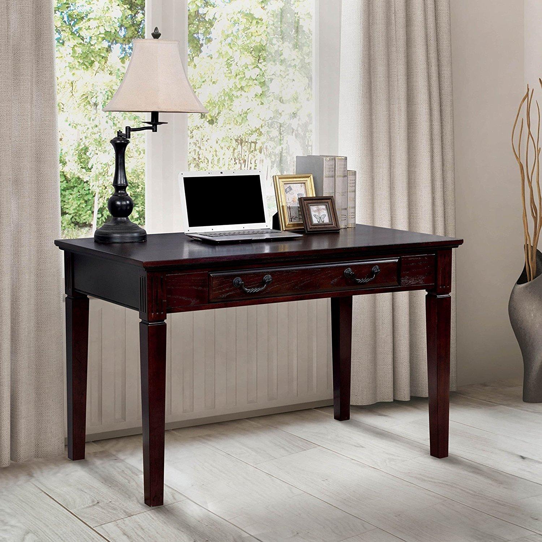 Furniture Of America Devon Traditional Dark Walnut Writing Desk