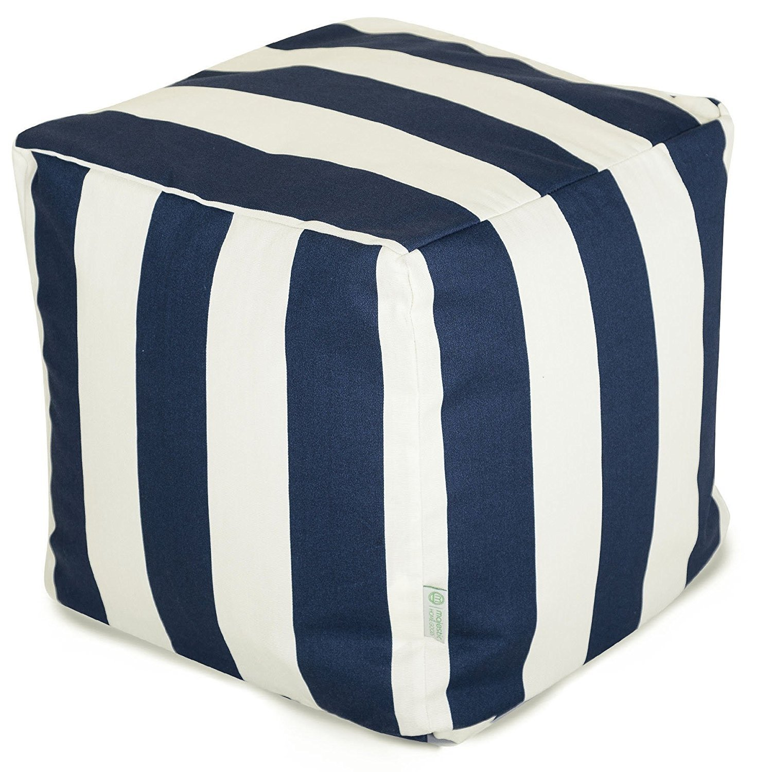 Majestic Home Goods Stripes Indoor Outdoor Bean Bag