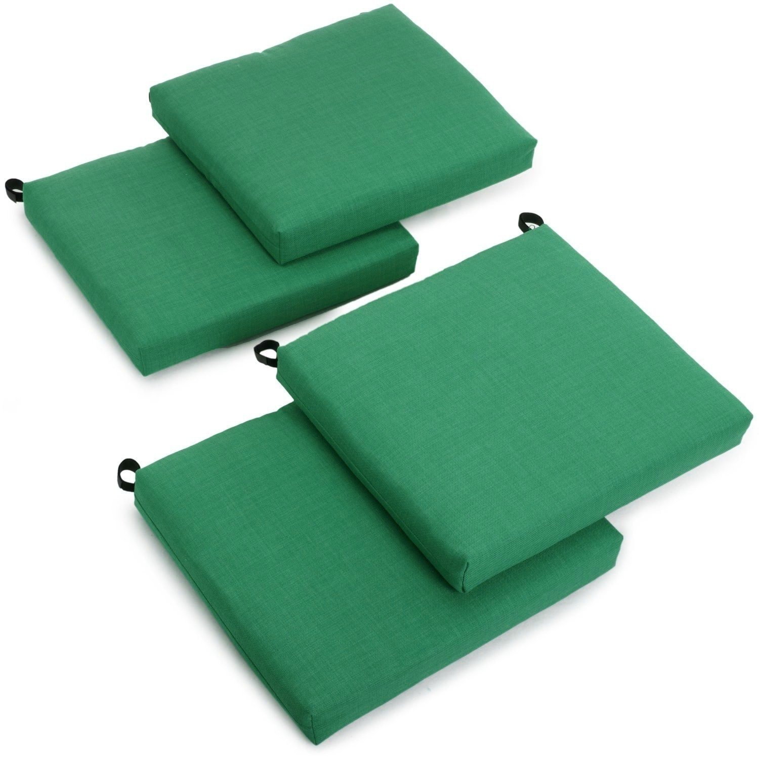 Perfect Blazing Needles Outdoor Spun Poly Chair Cushions (Set Of 4) Blue 20 X 19;  Picture 2 Of 2
