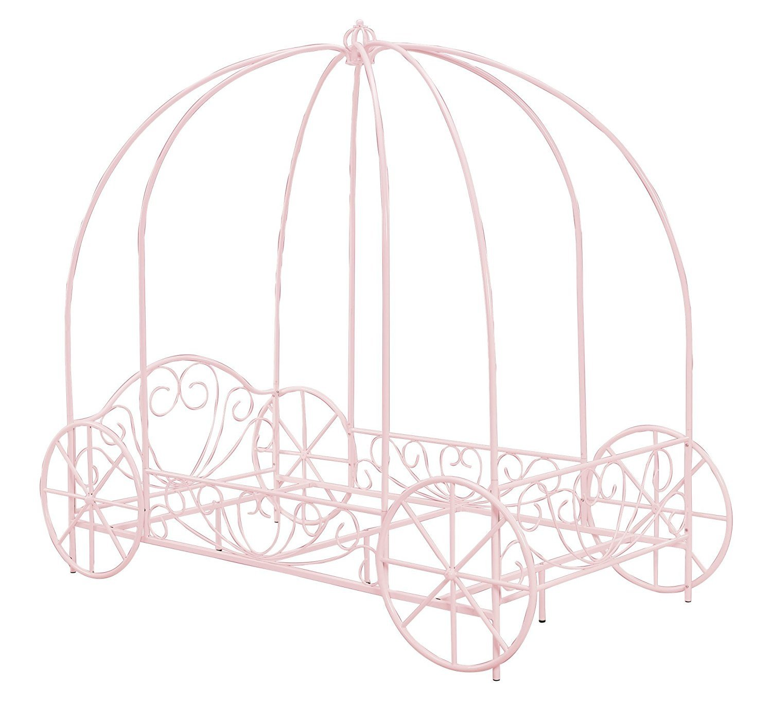 DHP Metal Carriage Bed, Fairy Tale Bed Frame, Shabby-Chic Style ...