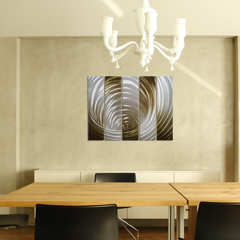PURE ART VORTEX in Gold - Abstract Metal Wall Art Decor -Modern ...
