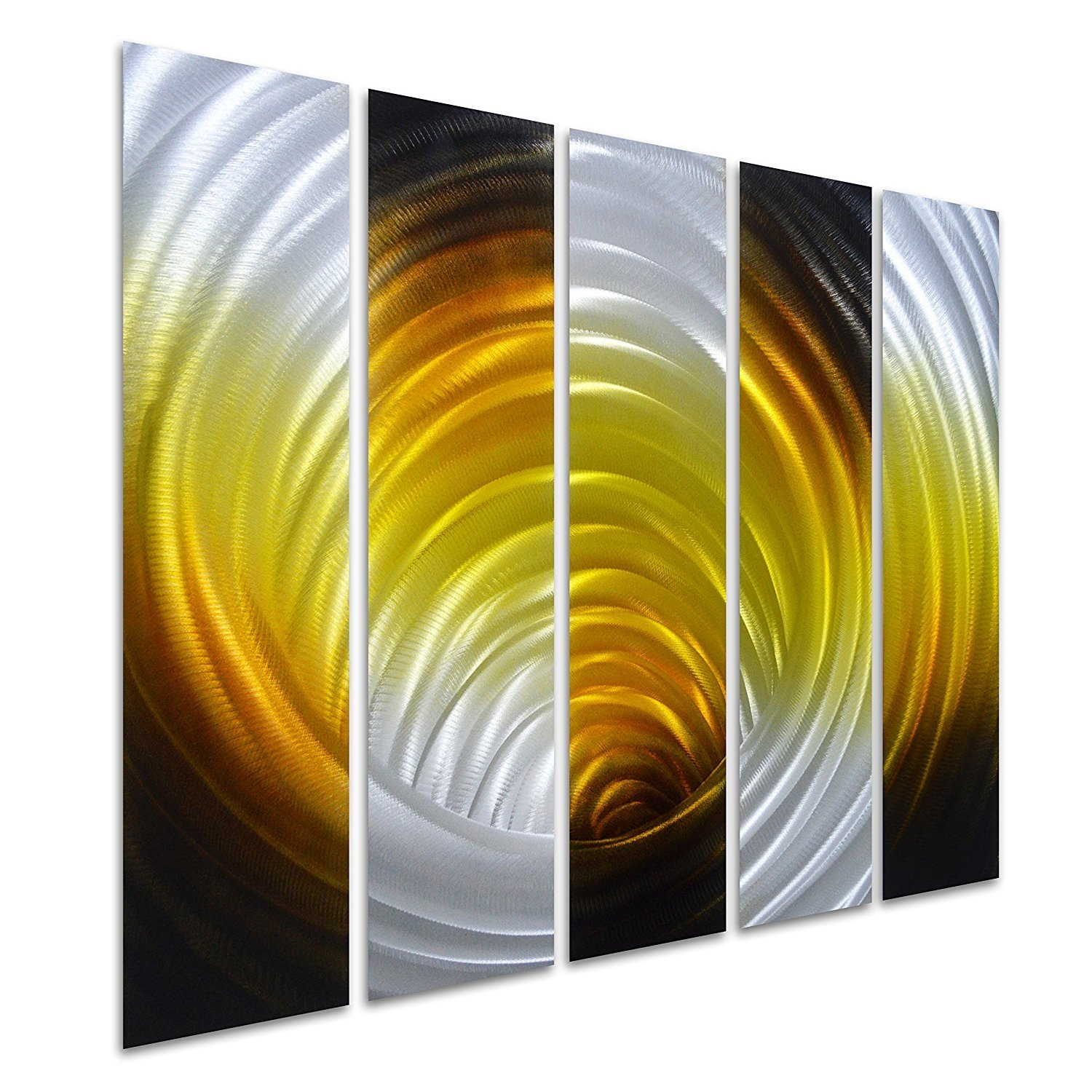 Pure Art Vortex in Gold - Abstract Metal Wall Art Decor -Modern ...
