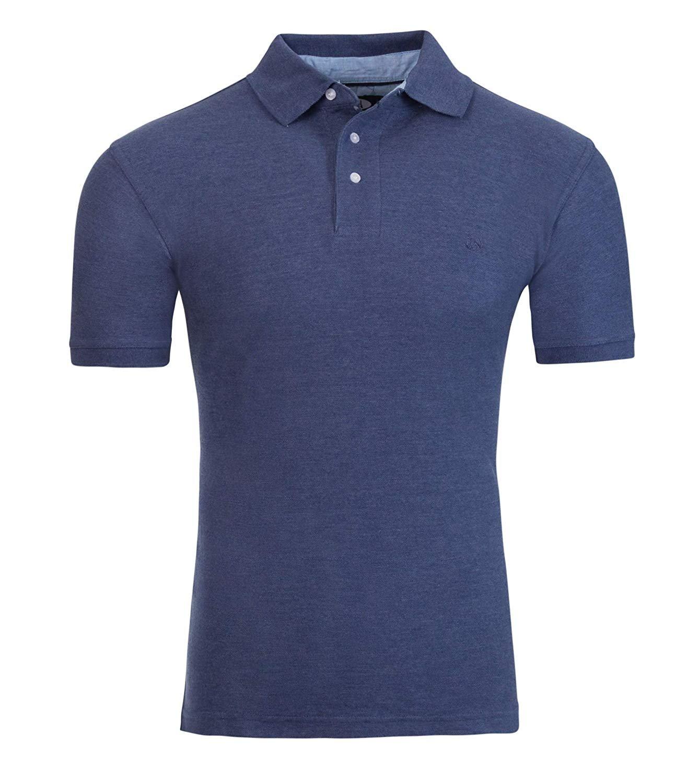 Short-Sleeve-Short-Sleeve-Polo-Shirt-Men-039-s-Classic-Fit-Pique-By-AKA thumbnail 33