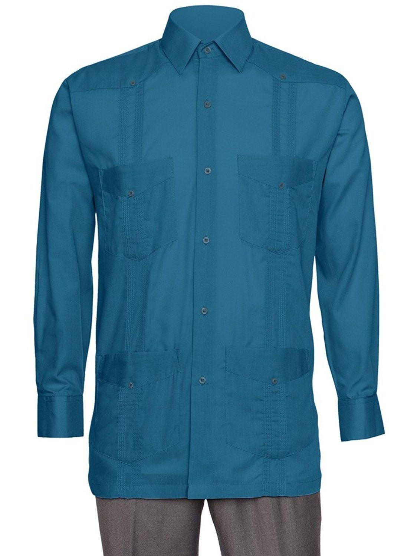 Guayabera Shirt For Men Linen Look By Gentlemens Collection | eBay