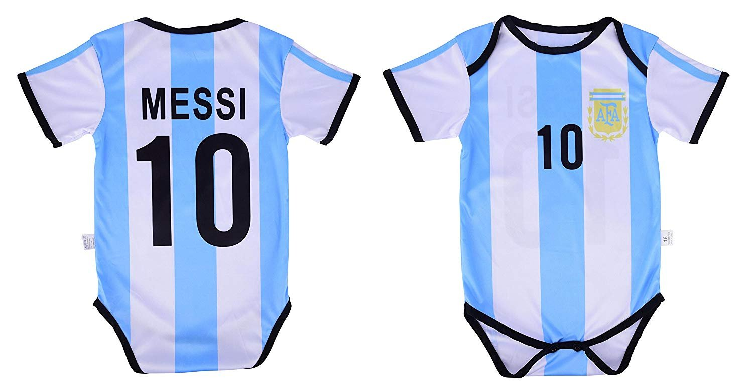 info for 0c231 8372a Details about Leo Messi #10 Argentina Soccer Jersey Baby Infant & Toddler  Bodysuit Romper