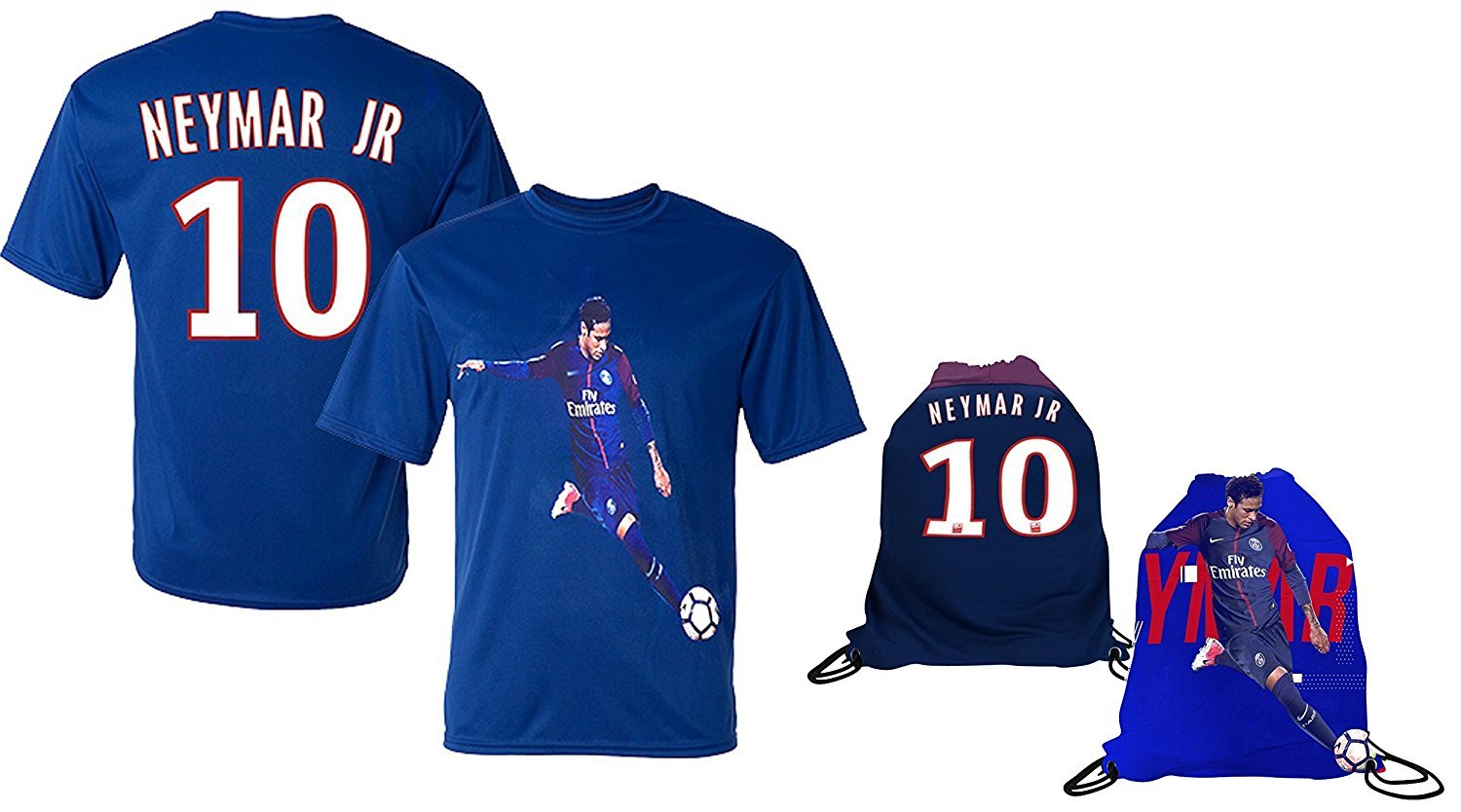 sale retailer 9407f 3301b Details about Neymar Jersey Style T-shirt Kids Neymar Jr Jersey PSG T-shirt  Gift Set Youth...