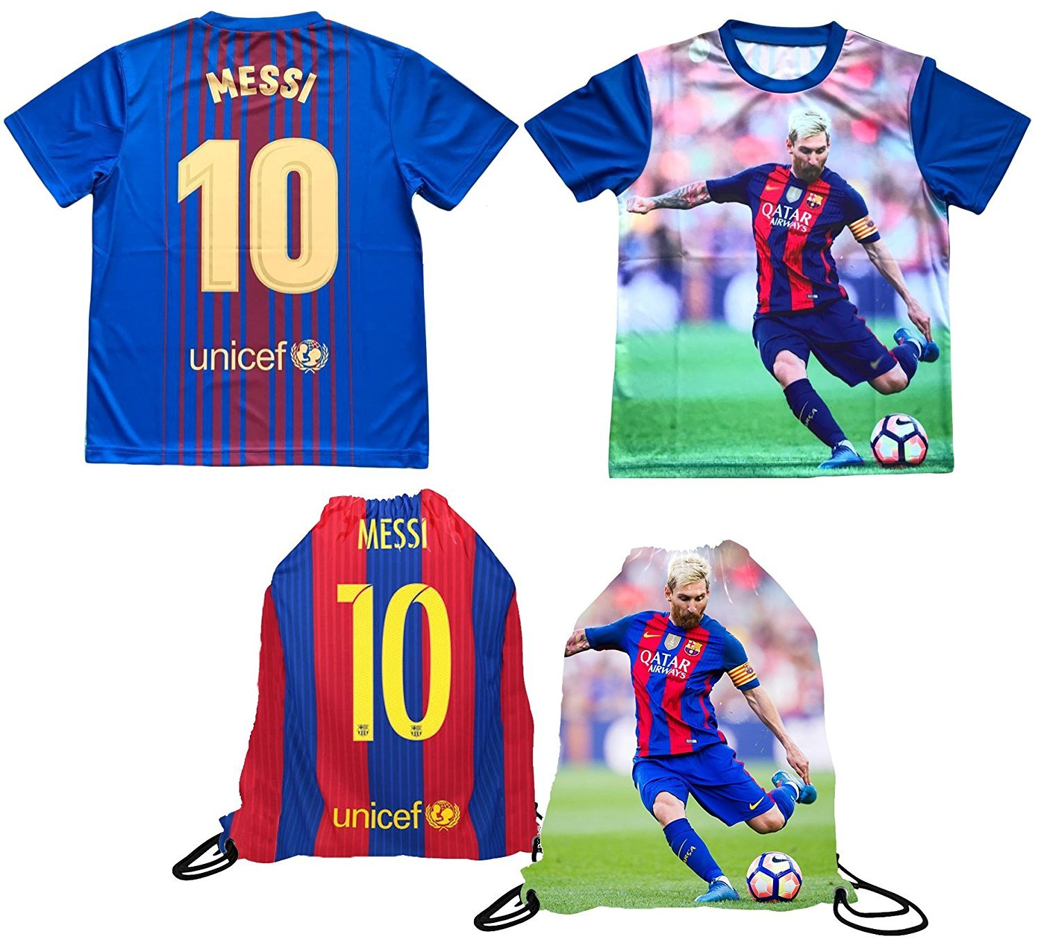 online store 5ecb5 80383 Details about Messi Jersey Style T-shirt Kids Lionel Messi Jersey Picture  T-shirt Gift Set...