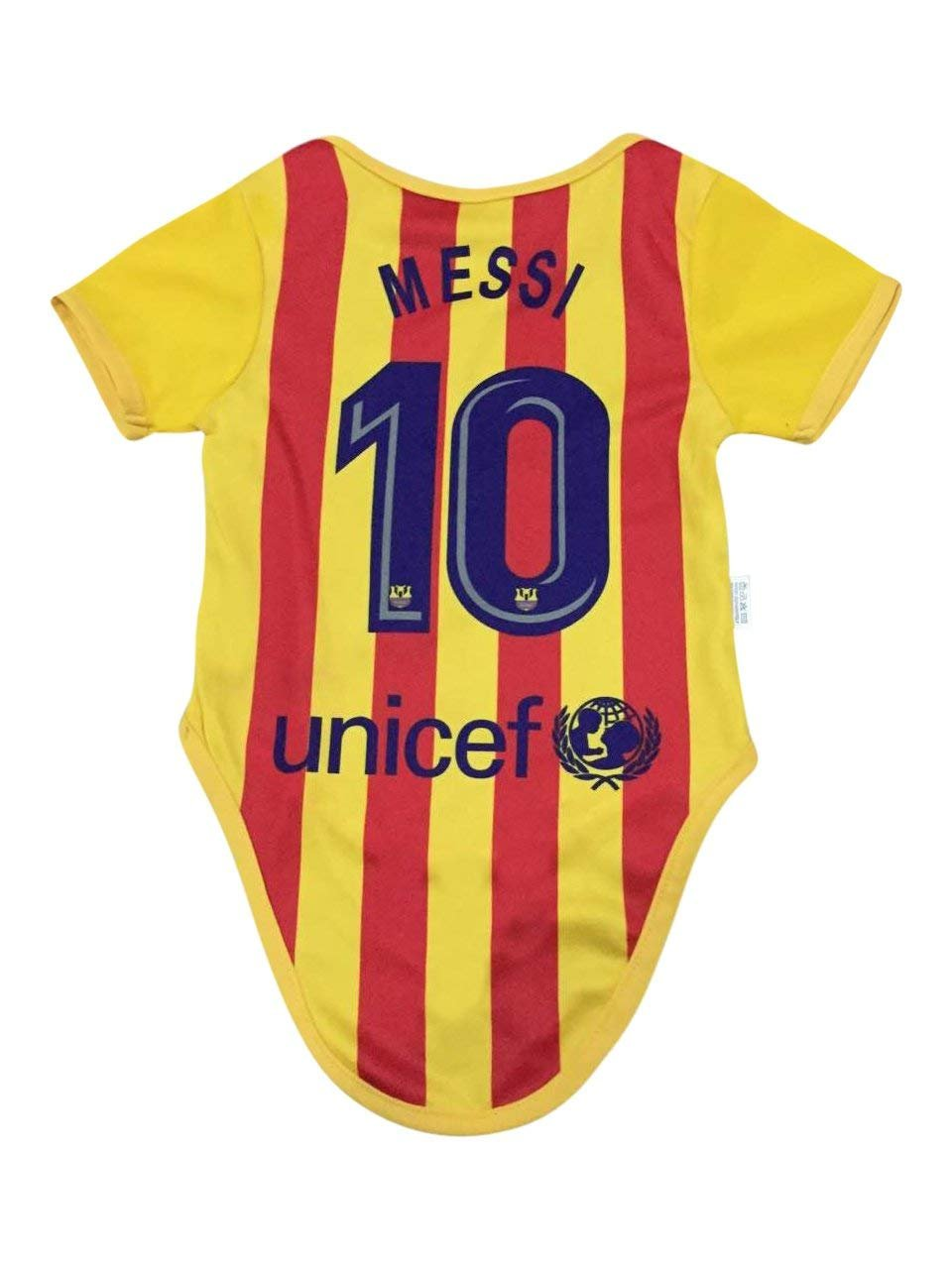 new arrival bb39b f4c5d Details about Leo Messi #10 Barcelona Soccer Jersey Baby Infant & Toddler  Rompers Body 2-Pack