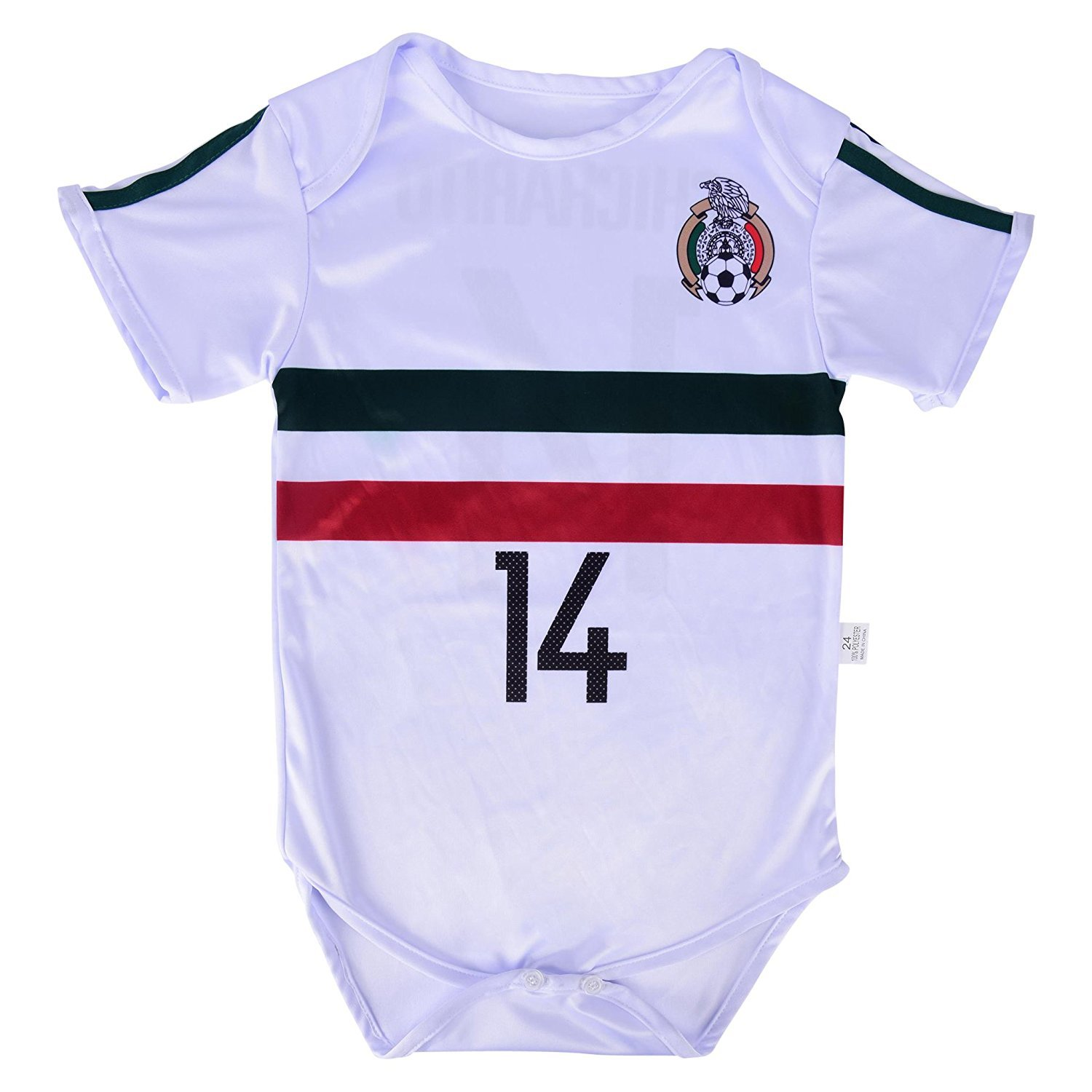 f4a6fa640be World Cup Baby Chicharito #14 Mexico Soccer Jersey Baby Infant and Toddler...  Product Details. Premium Soccer Baby Rompers ...