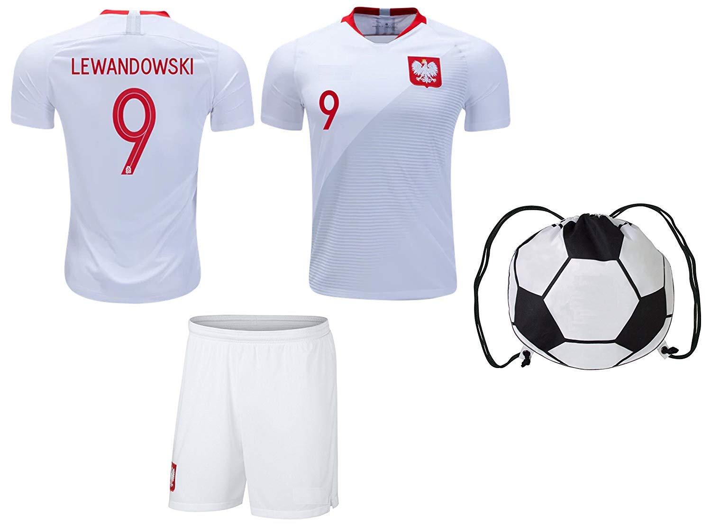 Lewandowski 9 Poland 2018 Kids' Home Jersey (Nike)