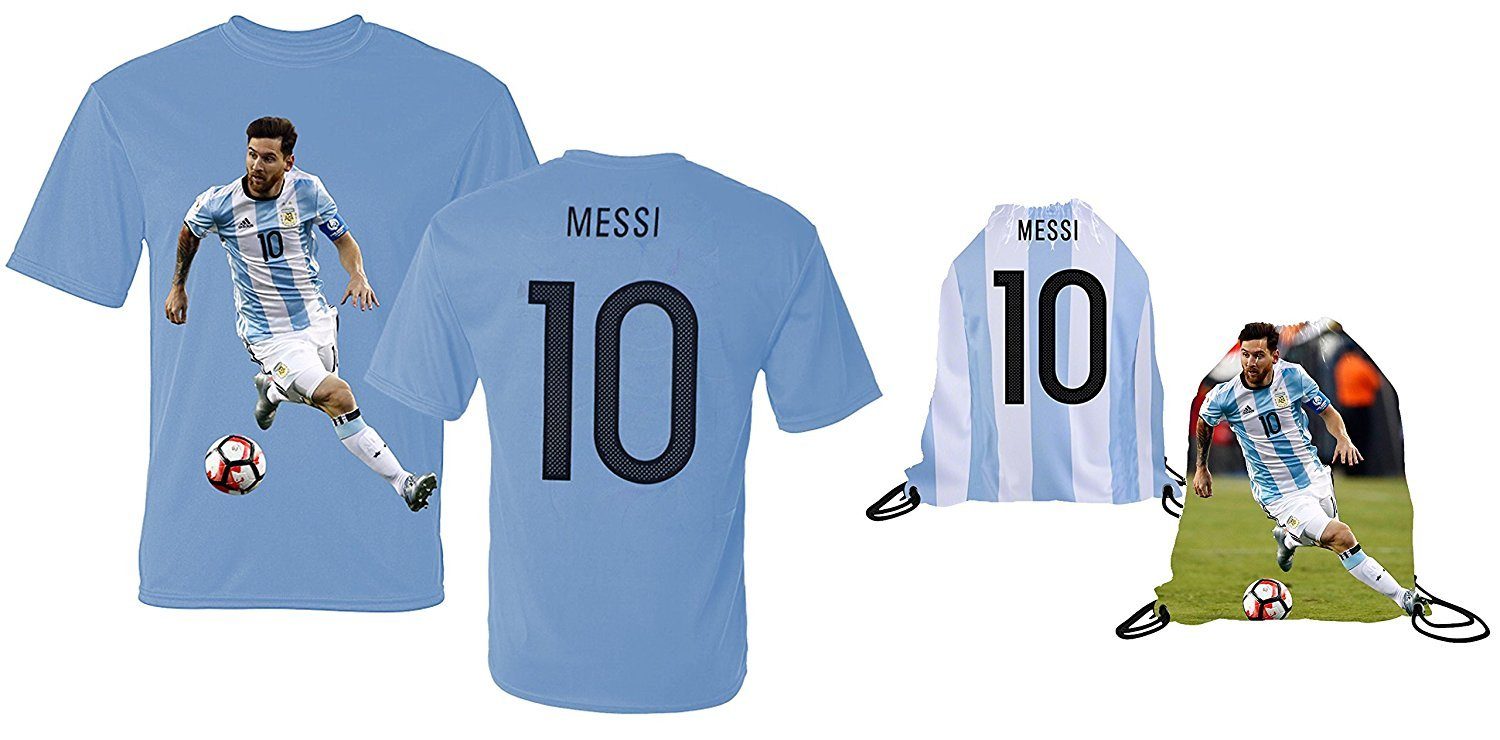 b05159e3721 Messi Jersey Style T-shirt Kids Argentina Lionel Messi Jersey T-shirt Gift.