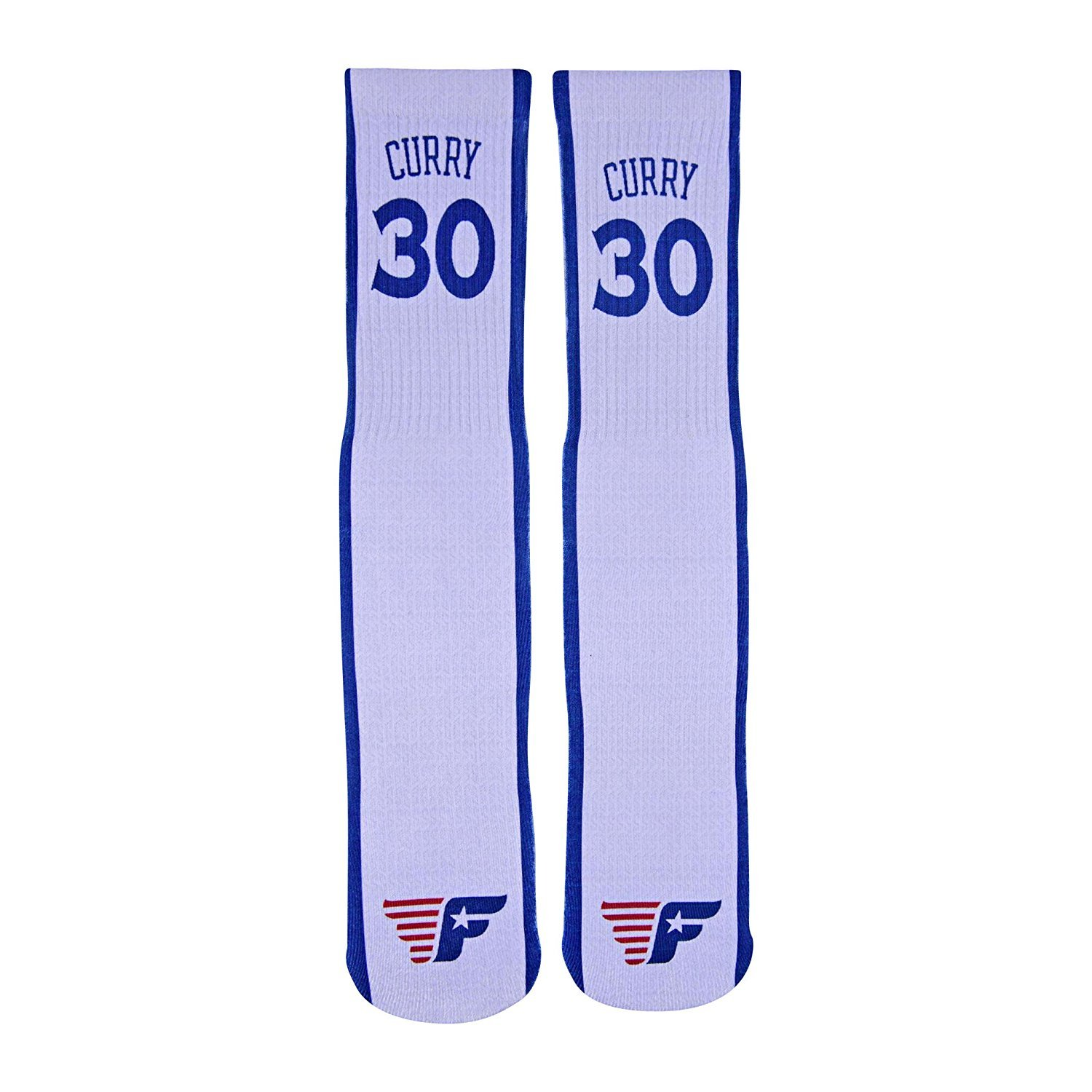 41b651c9b121 Forever Fanatics Golden State Steph Curry  30 Away Basketball Crew Socks ✓.