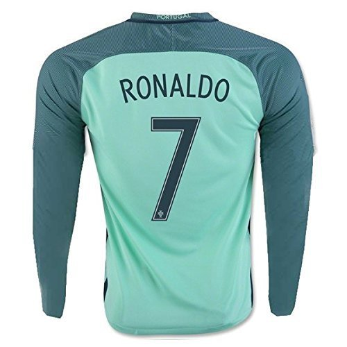 finest selection 3a2e7 4436c Details about Ronaldo Jersey #7 Portugal LONG Sleeve Youth Soccer Jersey &  Kids Shorts +...