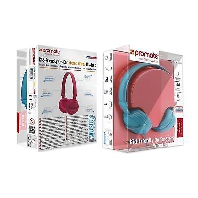 Stereo-Headphones-Volume-Limit-Headband-Noise-Cancellation-Girls-Boys-Blue-Pink thumbnail 3