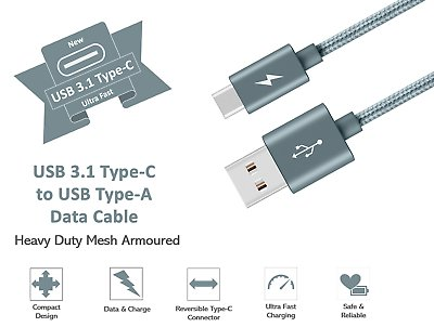 Type-C-USB-C-Sync-Charger-Charging-Cable-for-Samsung-Galaxy-A5-S9-S9-S8-Plus thumbnail 15