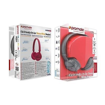 Stereo-Headphones-Volume-Limit-Headband-Noise-Cancellation-Girls-Boys-Blue-Pink thumbnail 6
