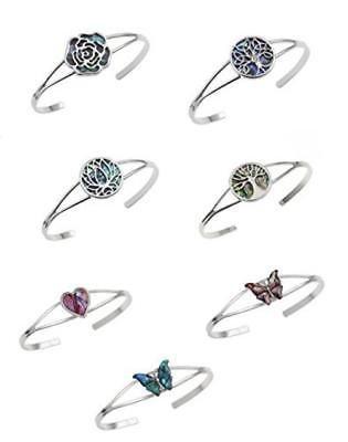 BellaMira-Abalone-Paua-Shell-Bracelet-Bangle-Earrings-Jewellery-Gift-Boxed thumbnail 3