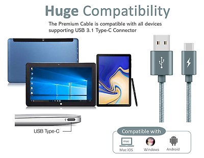 Type-C-USB-C-Sync-Charger-Charging-Cable-for-Samsung-Galaxy-A5-S9-S9-S8-Plus thumbnail 16