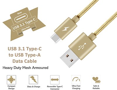 Type-C-USB-C-Sync-Charger-Charging-Cable-for-Samsung-Galaxy-A5-S9-S9-S8-Plus thumbnail 5