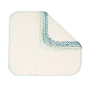 306534 12 Pack Bumkins Reusable Unbleached Cotton Flannel Cloth Baby Wipes
