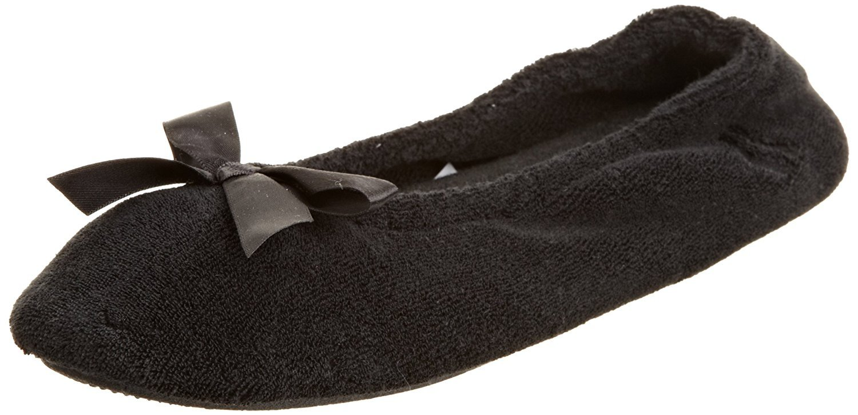 Isotoner Womens Terry Ballerina Slippers