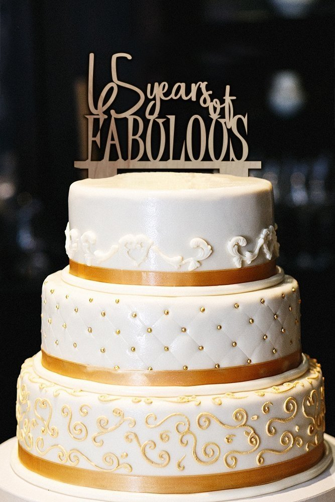 65 Years Of Fabulous Cake Topper And