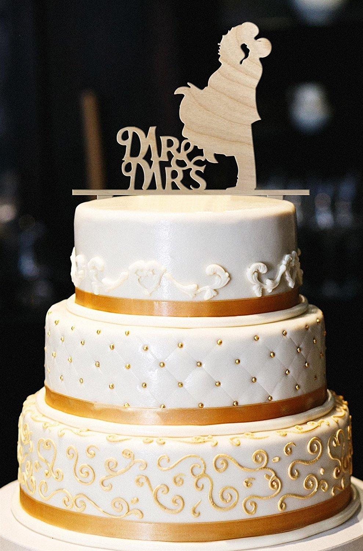 Mr. & Mrs. Wedding Cake Topper, Kiss Wedding Cake Topper, Engagement ...