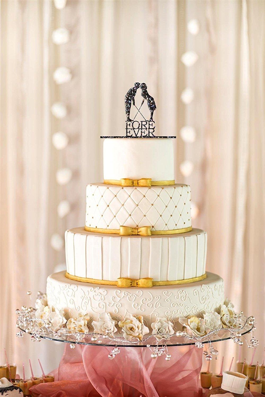 Fore Ever Golf Wedding Cake Topper, Glitter Wedding Cake Topper ...