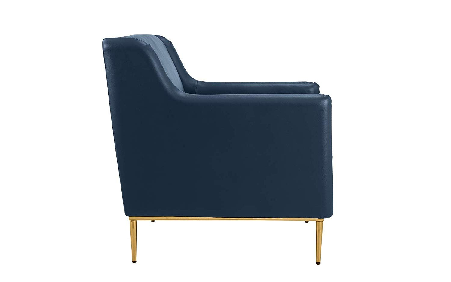 Modern living room leather armchair accent chair blue