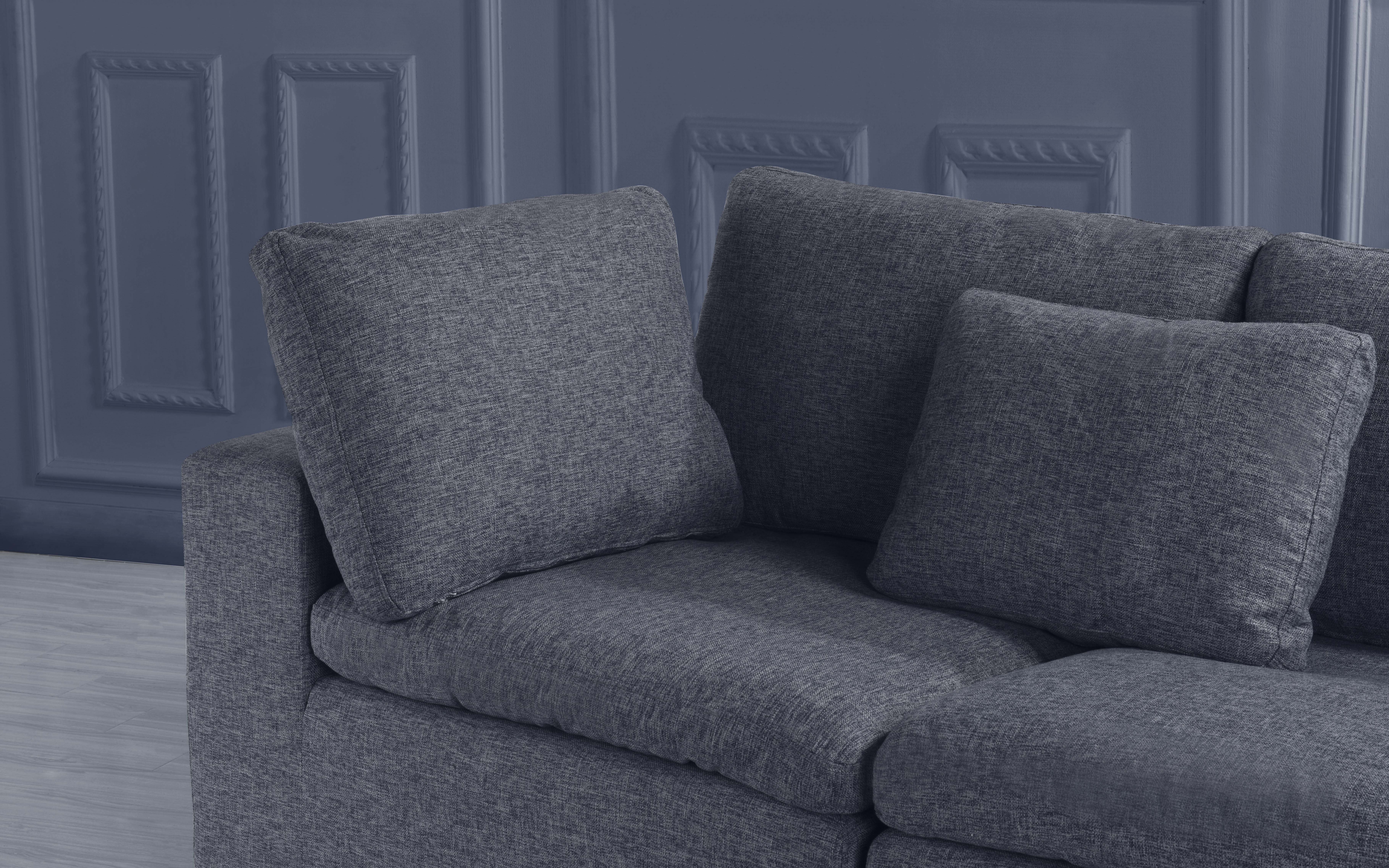 Details about Large Couch Classic Lounge Sofa Living Room Linen Fabric Sofa  (Dark Grey)