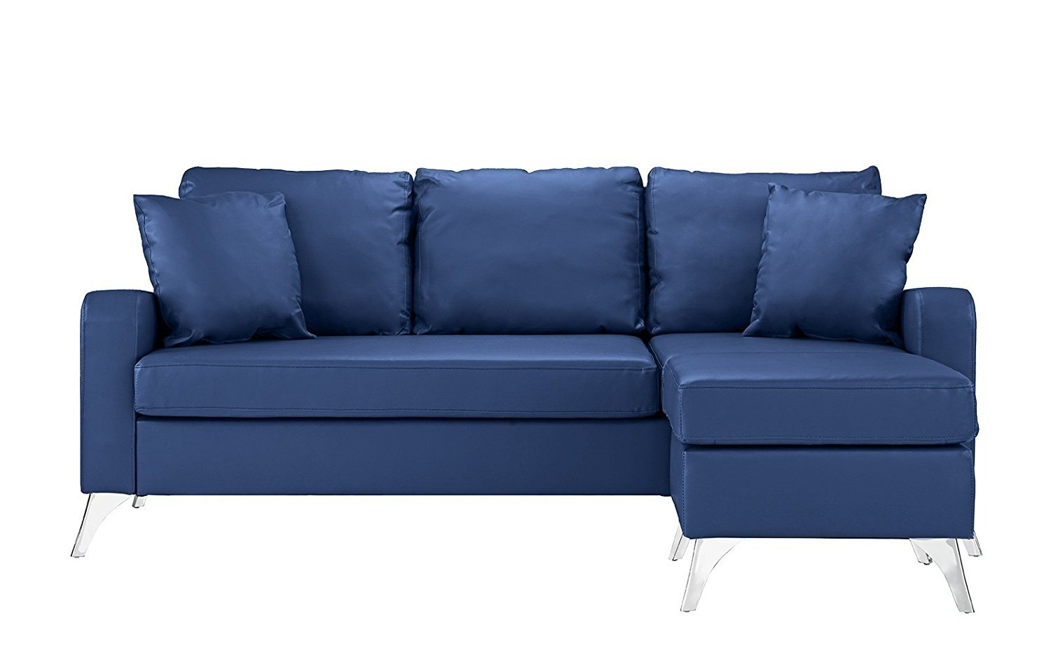 Couch for small space Sectional Bonded Leather Sectional Sofa Small Space Couch W Matching Pillows 2 Black Ebay Bonded Leather Sectional Sofa Small Space Couch W Matching