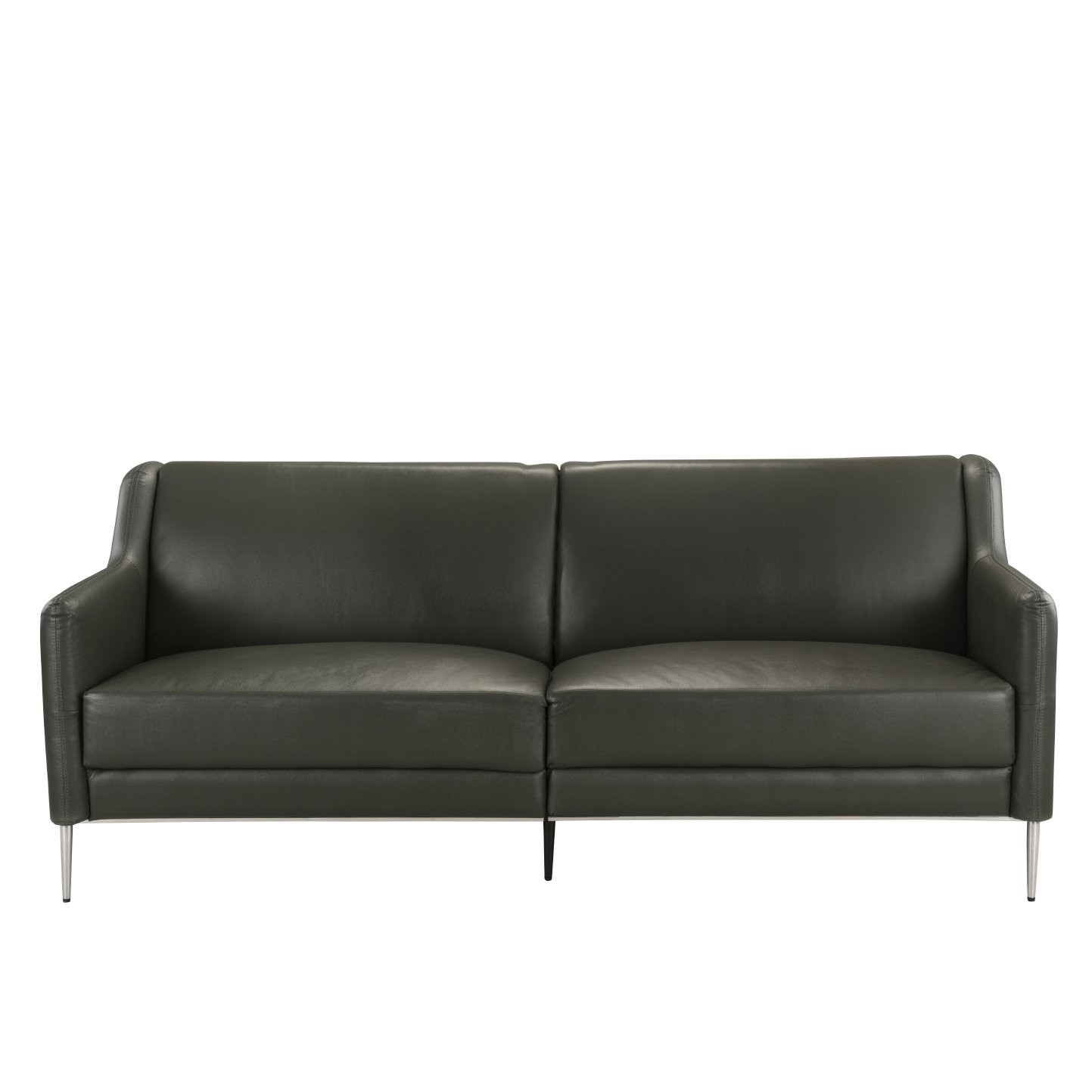 Mid Century Style Leather Sofa 77 1