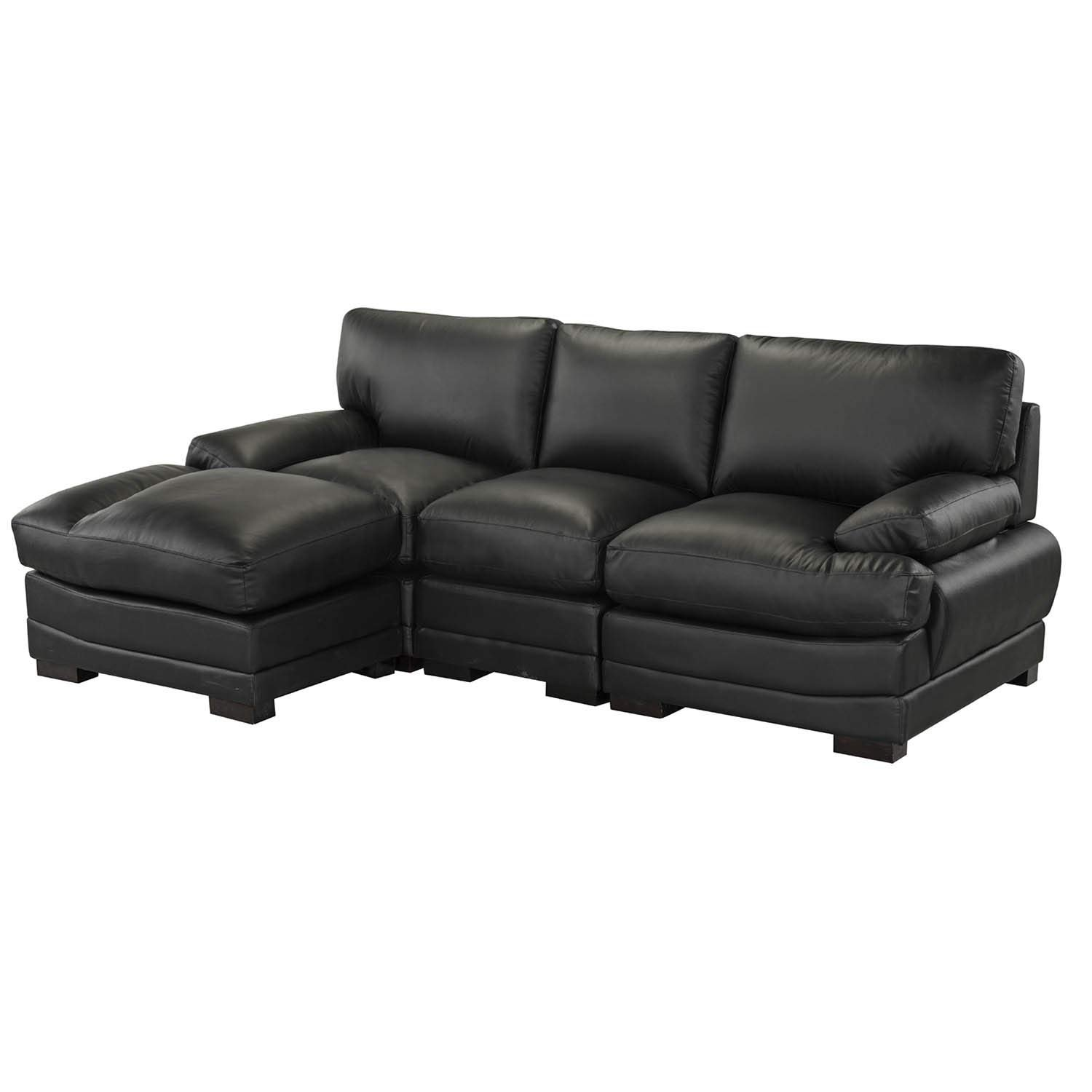 Swell Details About Black Leather Match Sectional Sofa L Shape Modern Left Facing Chaise Lounge Caraccident5 Cool Chair Designs And Ideas Caraccident5Info